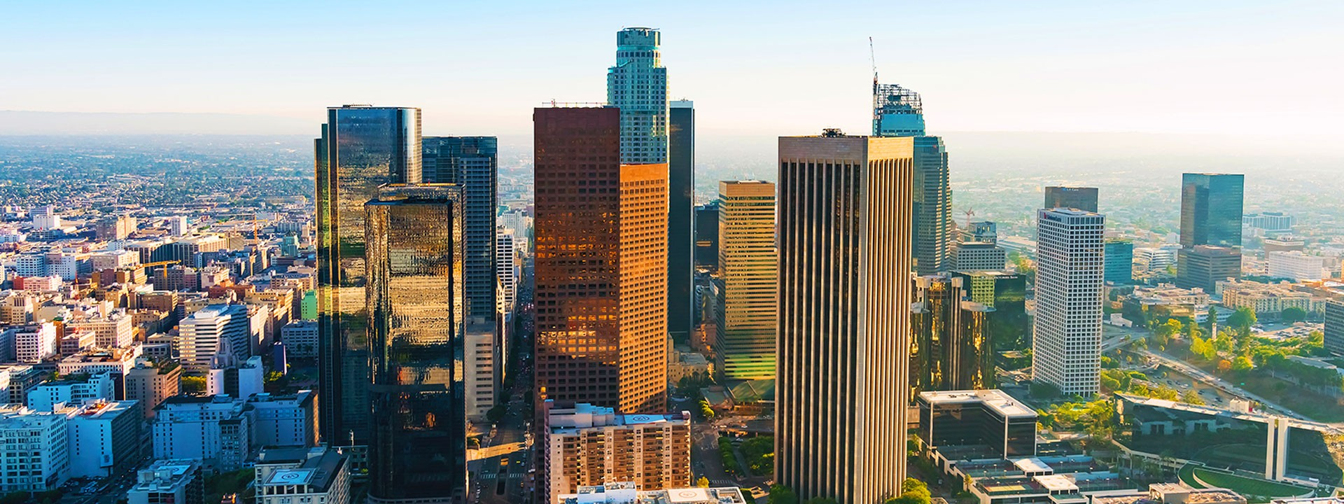 Downtown LA with skyscrapers