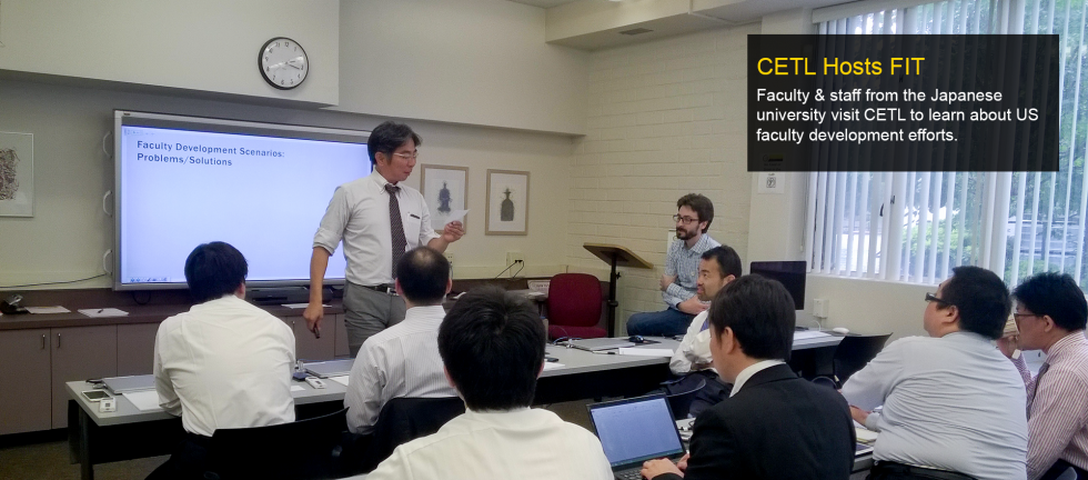 Faculty & staff from the Japanese university visit CETL to learn about US faculty development efforts.