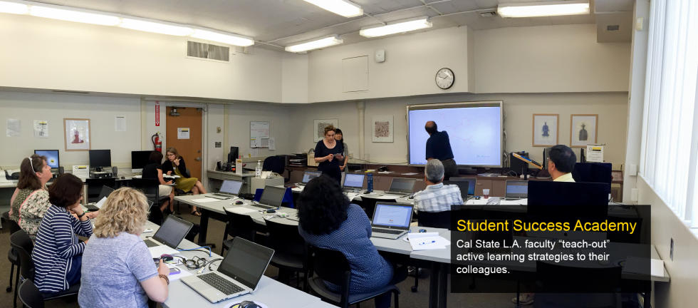 "Cal State L.A. faculty ""teach-out""  active learning strategies to their colleagues."