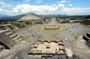 Teotihuacan, the city of the gods.