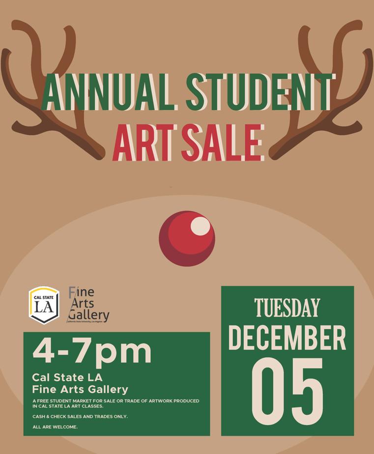 Cal State LA Fine Arts Gallery Student Art Sale