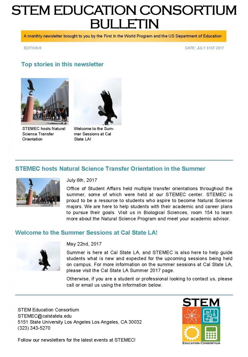 STEMEC Current Events and News Bulletin Edition 6 July 2017