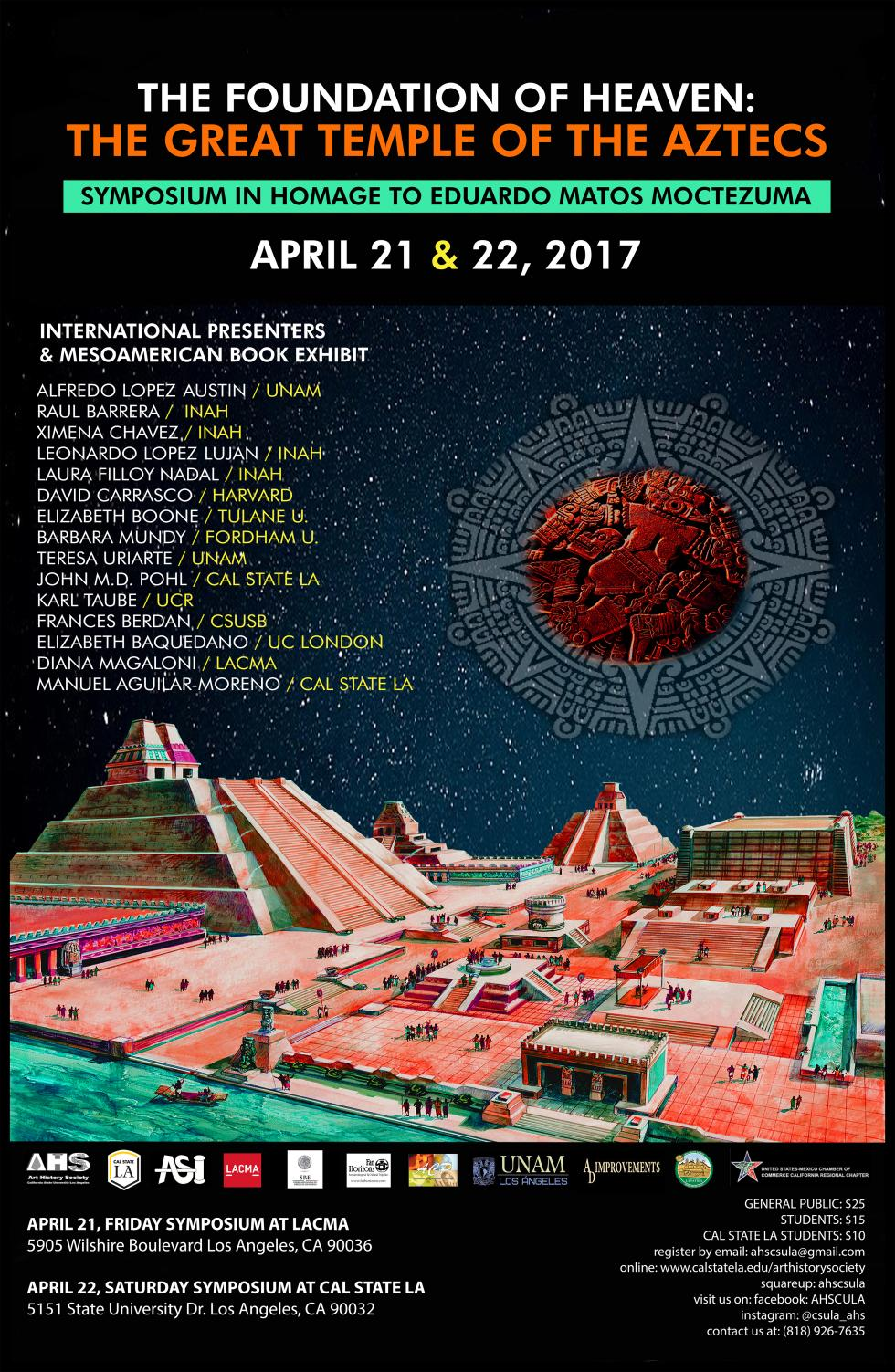 This Mesoamerican Symposium in homage to Eduardo Matos-Moctezuma, organized  by the Art History Society of California State University, Los Angeles and  Los ... 1ecd74e1d948