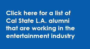 Information box directs readers to a list of alumni working in the entertainment industry