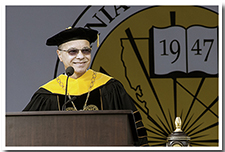 President William A. Covino speaks at the 67th Commencement ceremony.