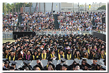 Thousands of students took part in the 67th Commencement ceremony.