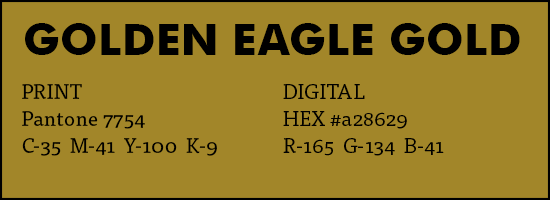 Brand - secondary colors - golden eagle gold