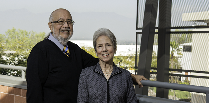 A portrait of David and Sharon D'Aiello Sandoval