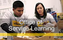 Click here for link to the Office of Service Learning webpage