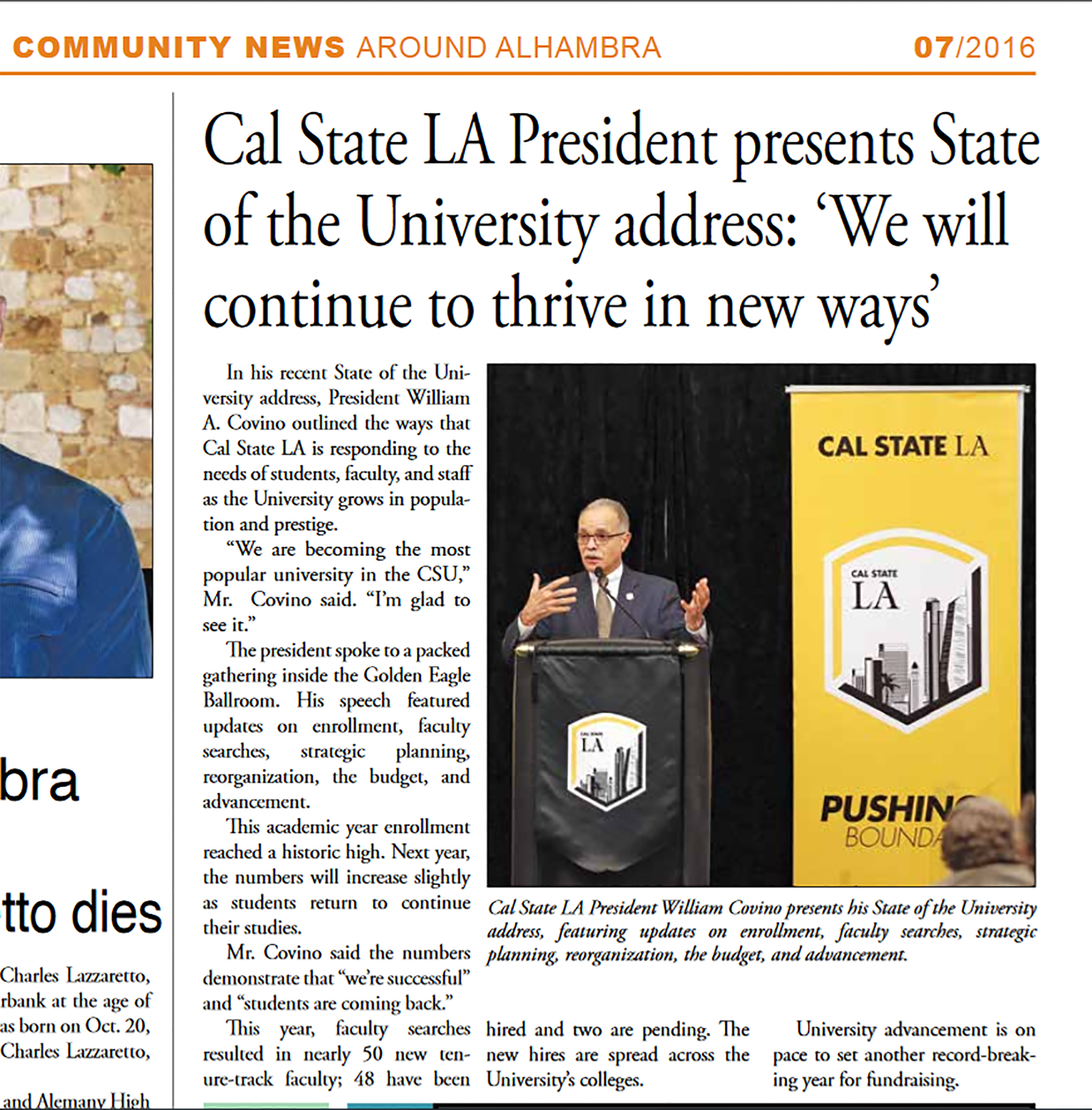 604d3020e101 ... Cal State LA President presents State of the University address   We  Will Continue to Thrive in New Ways