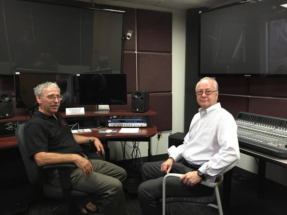 Daniel Katzen and Peter McAllister at new Cal State LA TV Film & Media Center