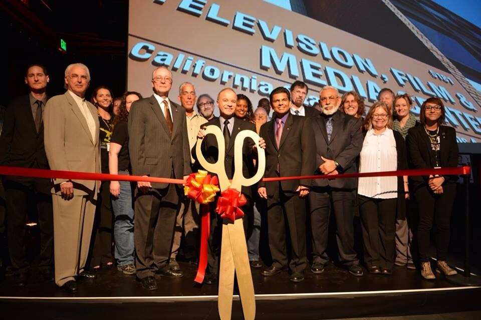 Opening ceremony for new TV Film and Media Center building at Cal State LA in 2014