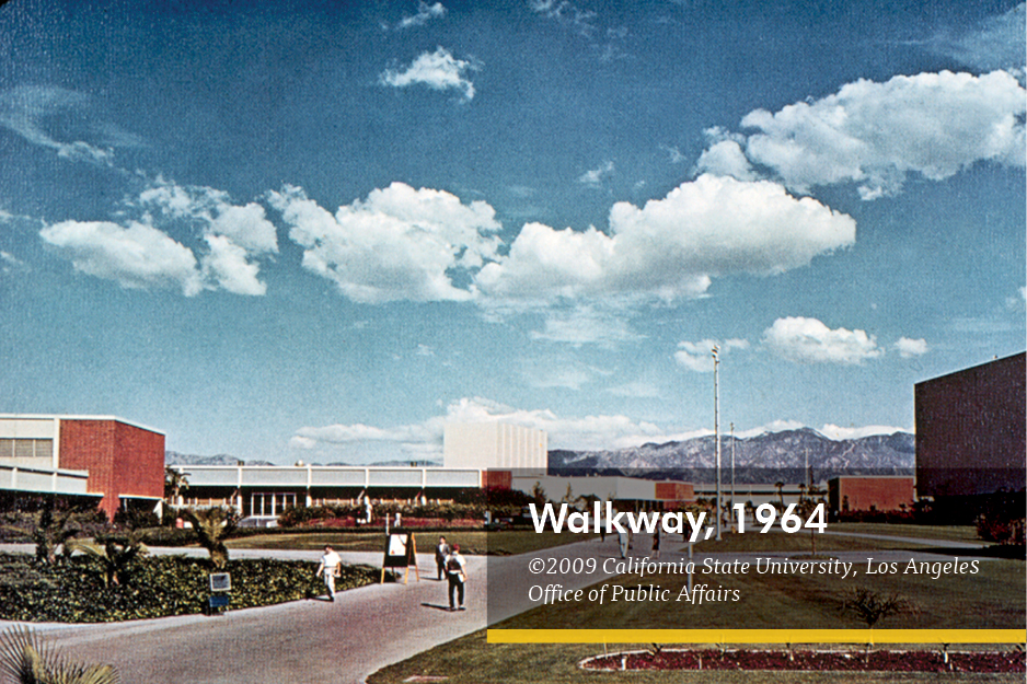 Walkway,1964. Copyright 2009 California State University Los Angeles Office of Public Affairs