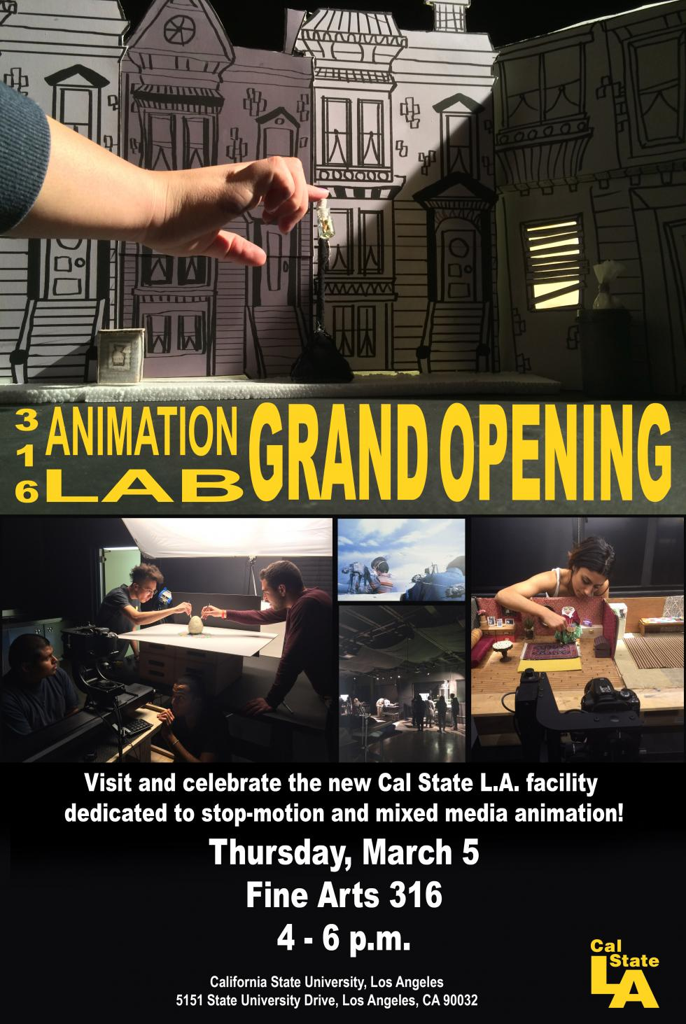 Animation Stop-motion Lab Opening Poster