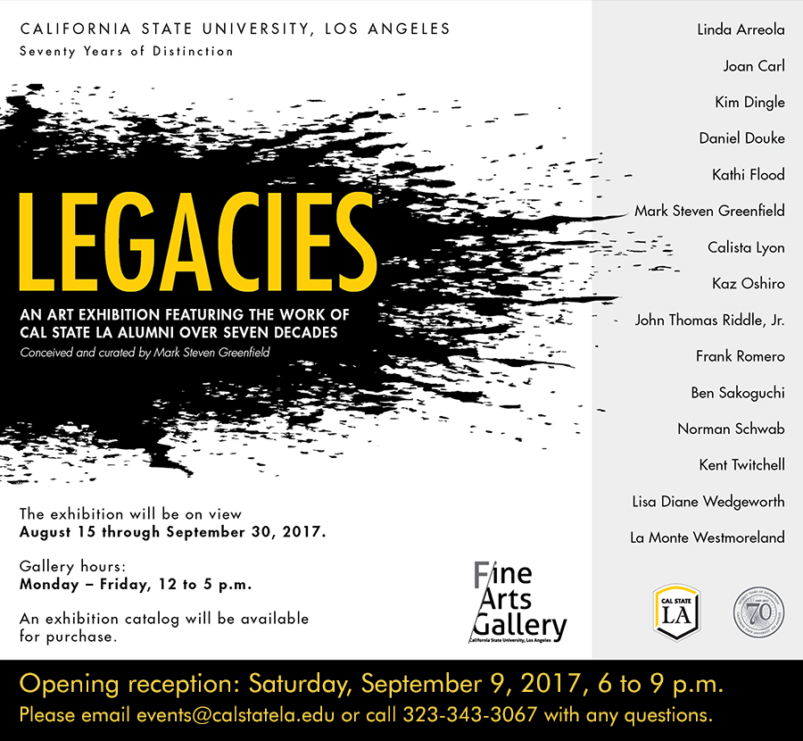 Cal state la fine arts gallery california state university los legacies alumni exhibition stopboris Gallery