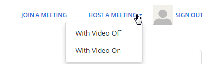 zoom host a meeting