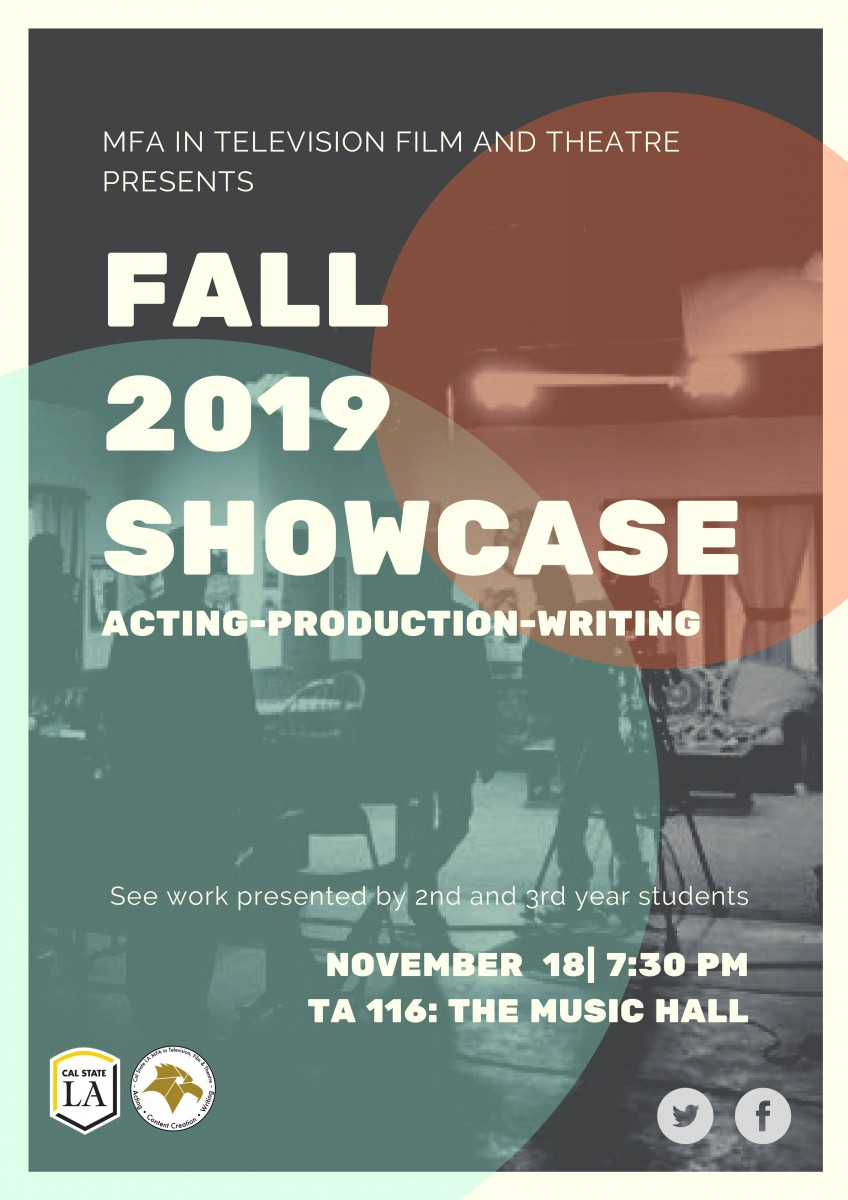 MFA Showcase November 18 at 7:30pm