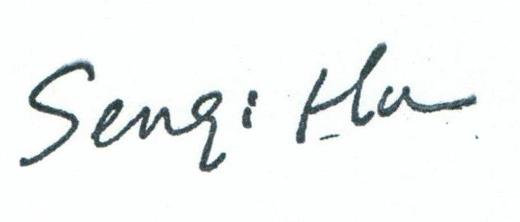 Signature of Dr. Hu, Department Chair
