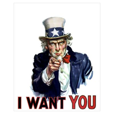 "Image of Uncle Sam "" I Want You"""