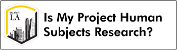 Is My Project Human Subjects Research