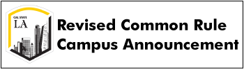Revised Common Rule Campus Announcement