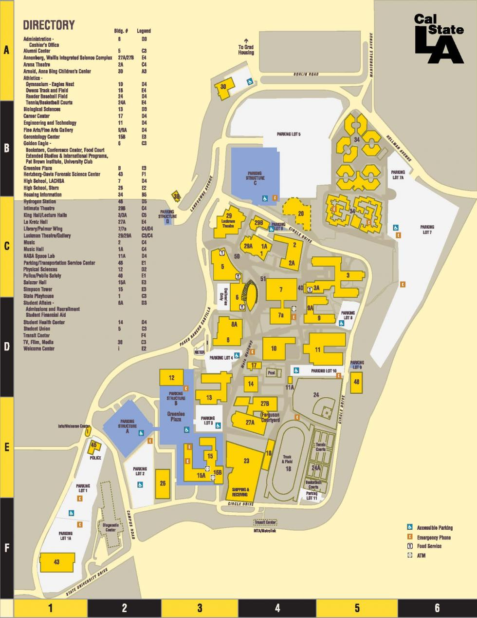 Parking Directions Campus Map Cal State La