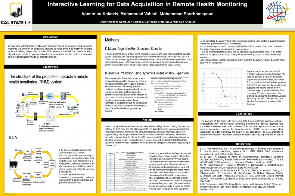 "Apostolos Kalatzi, et al., CSULA: ""Interactive Learning for Data Acquisition in Remote Health  Monitoring"""