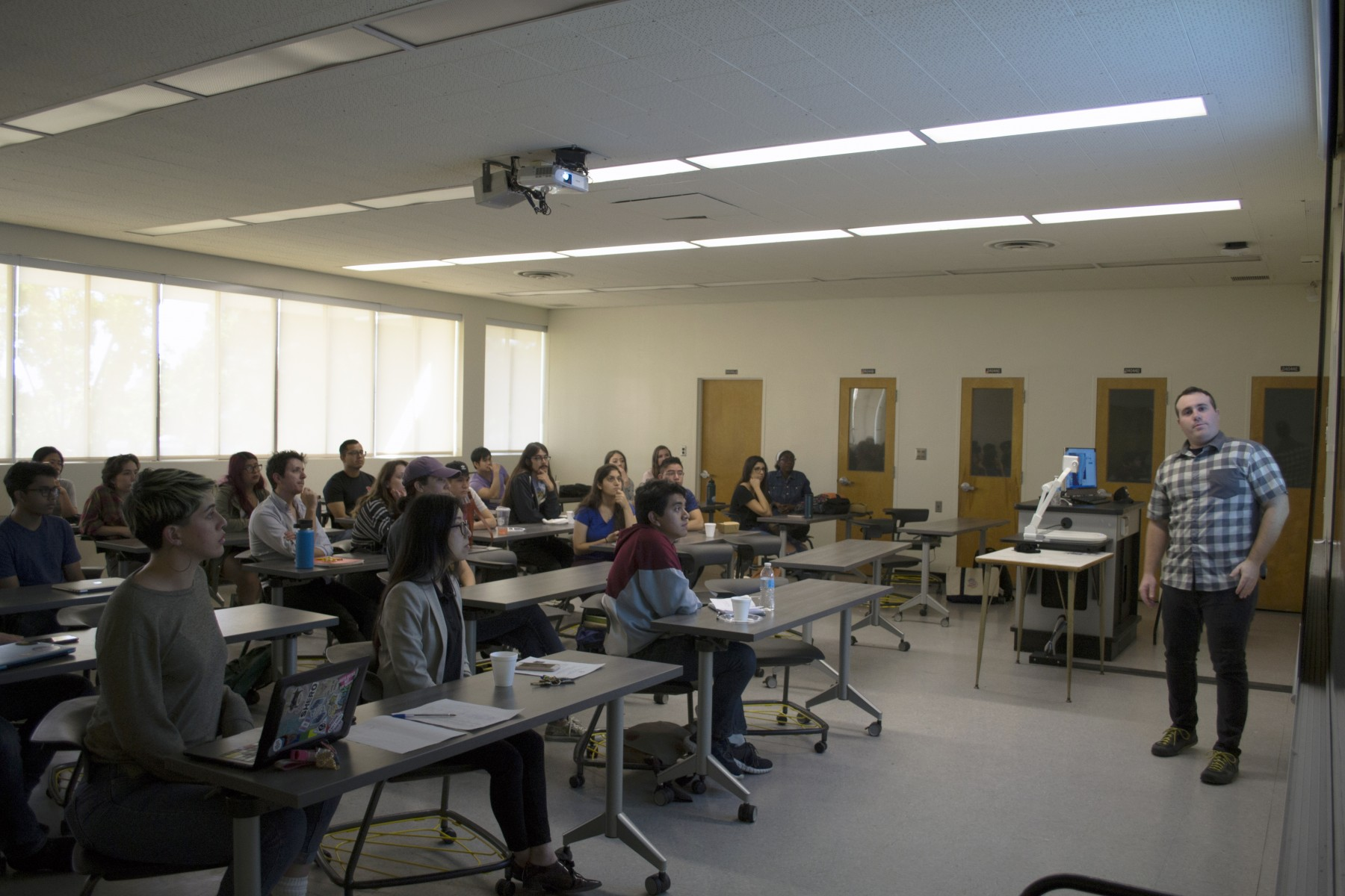 Students at our multi-disciplinary seminar on Oct. 11th with Dr. Josh Cuzzone