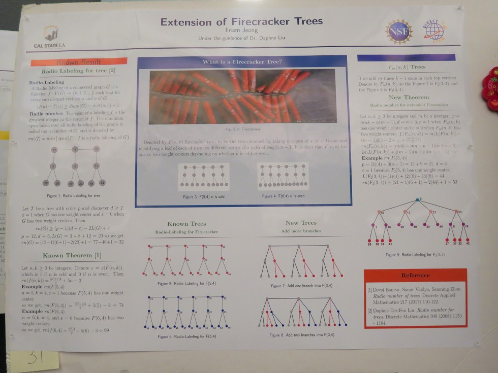 "Ilnam Jeong, CSULA: ""Extension of Firecracker Trees"""