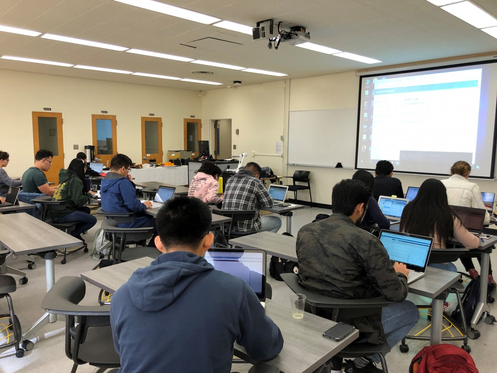 Students at our Winter MATLAB workshop sponsored by MathWorks