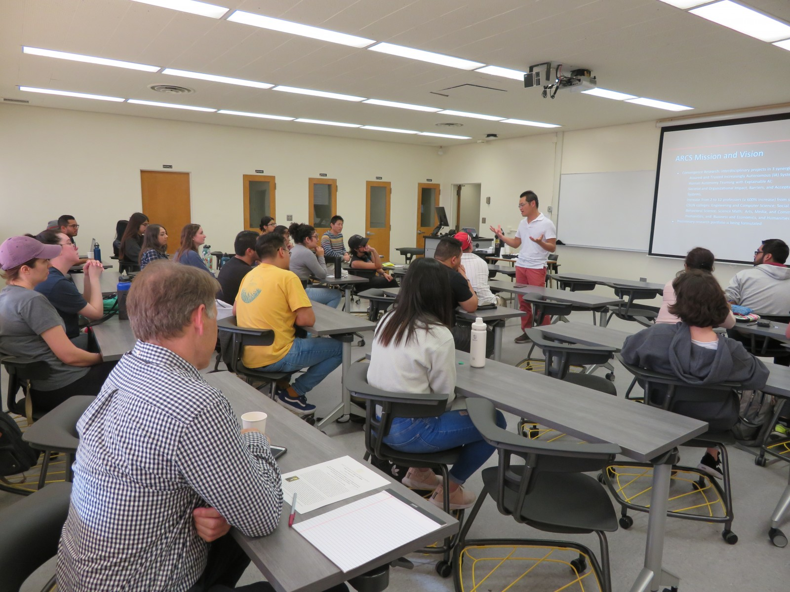 Students at our multi-disciplinary seminar on Jan. 31st with Dr. Nhut Tan Ho from Cal State University, Northridge