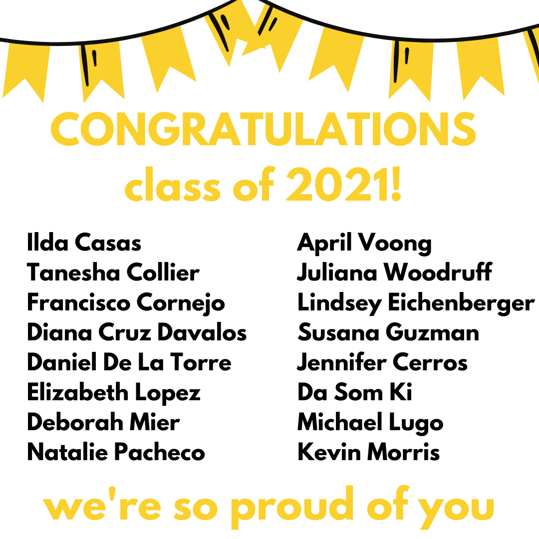 Congratulations EDFN Class of 2021! We're so proud of you.