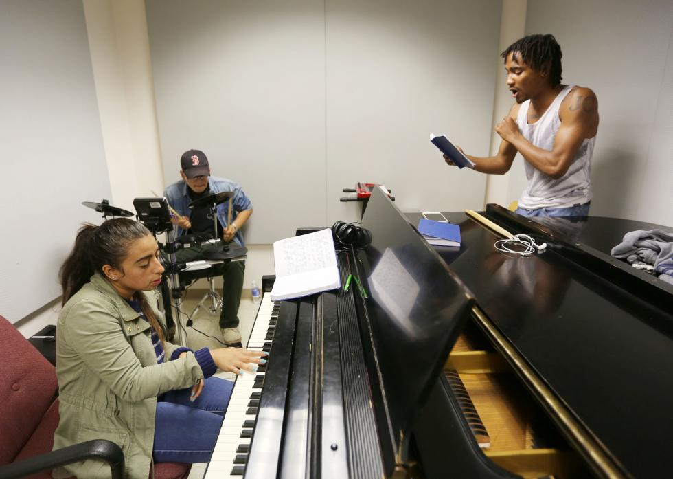 Musicians play at Grammy camp