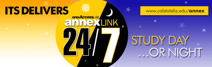 Study day or night, Annex Link now open 24 hours a day, 7 days a week