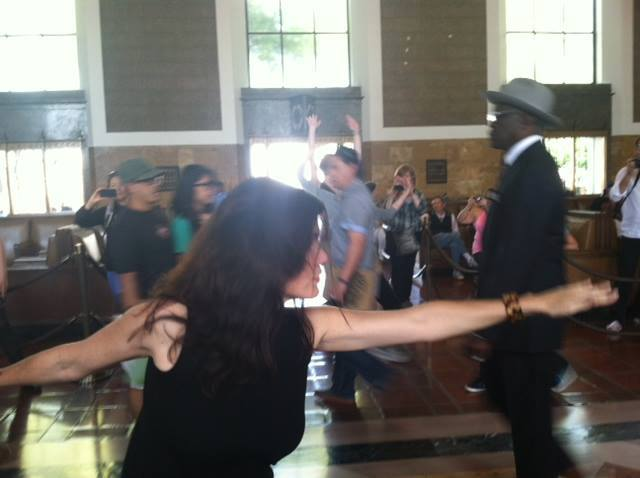 Dr. Odhiambo Horne dancing in the Flash Mob at Union Station