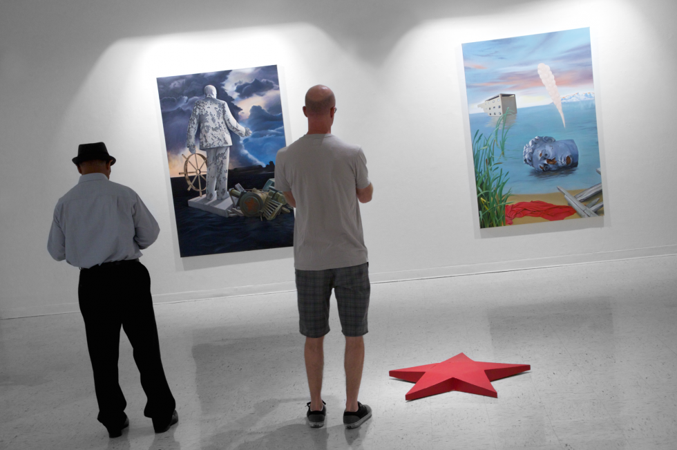 Photograph of artwork in gallery