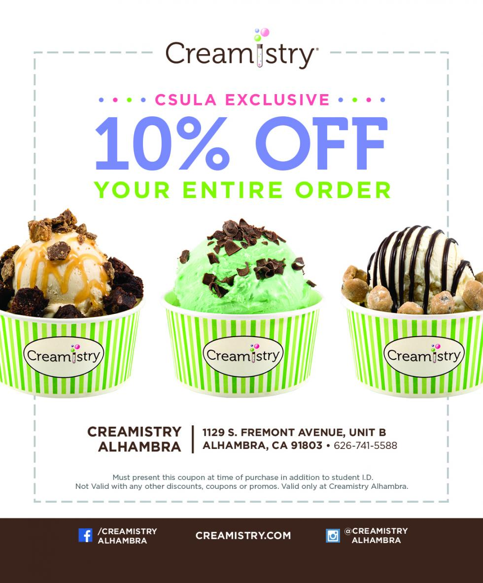 Creamistry Cal State LA Discount