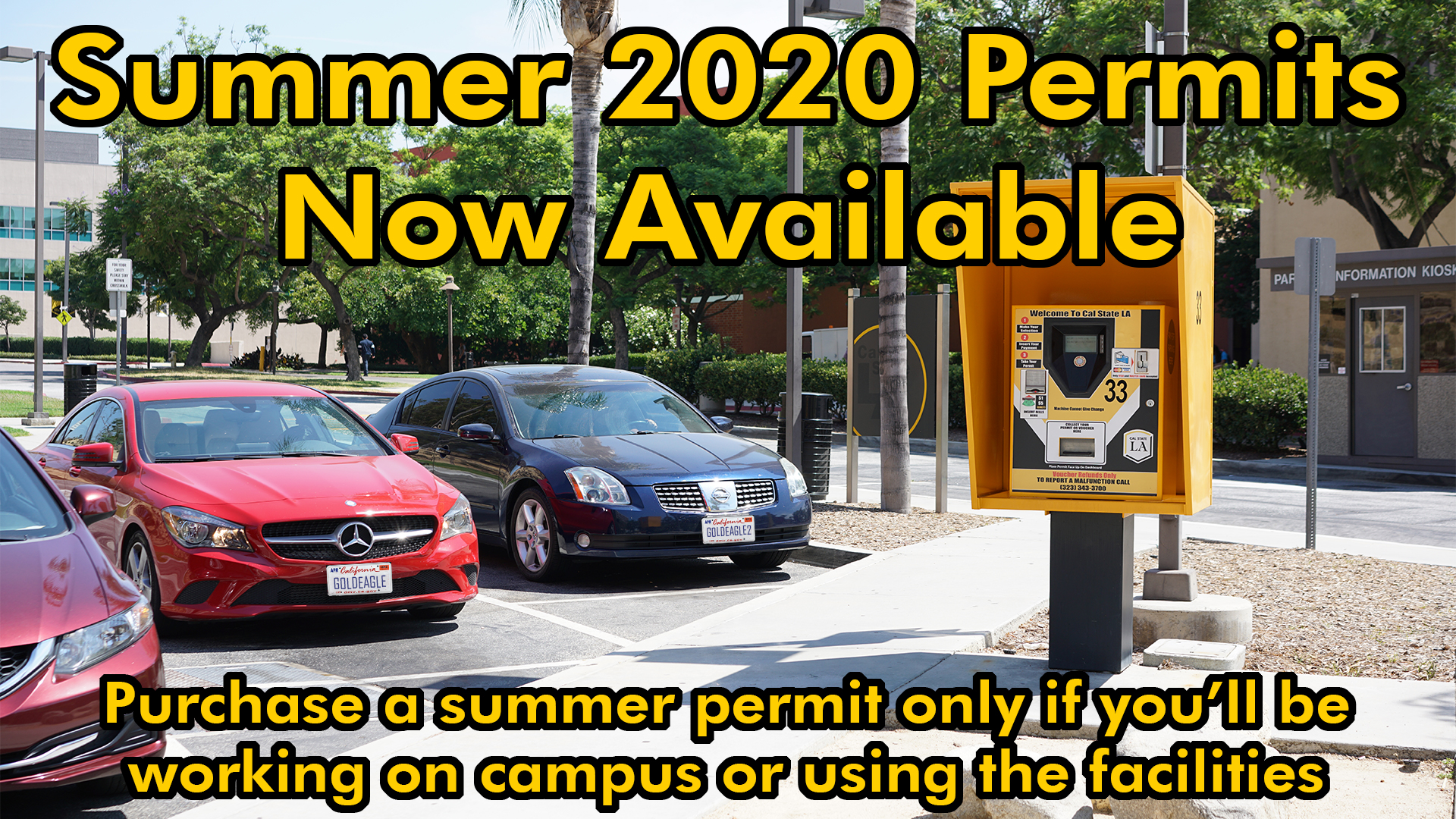 Purchase a Summer 2020 permit only if you'll be on campus or using the facilities